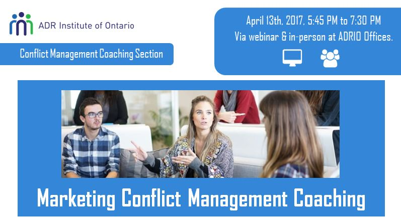 ADRIO - Section Meeting: Conflict Management Coaching