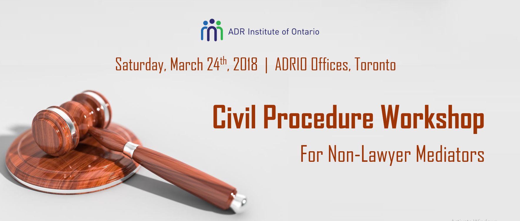 ADRIO - Civil Procedures Workshop for NON-LAWYER Mediators