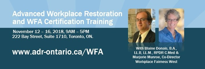ADRIO - Advanced Workplace Restoration and WFA Certification