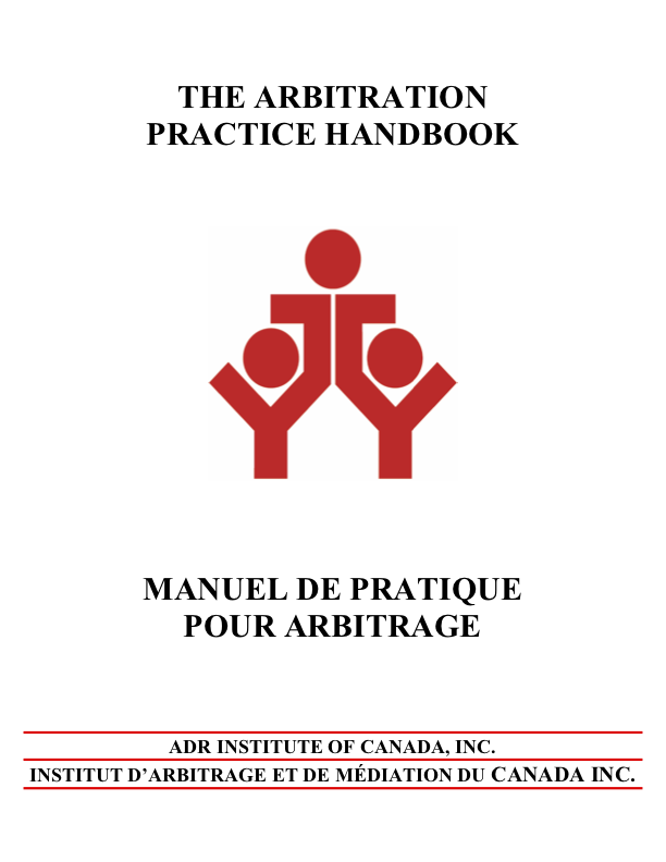A1 - The ADRIC Arbitration Handbook